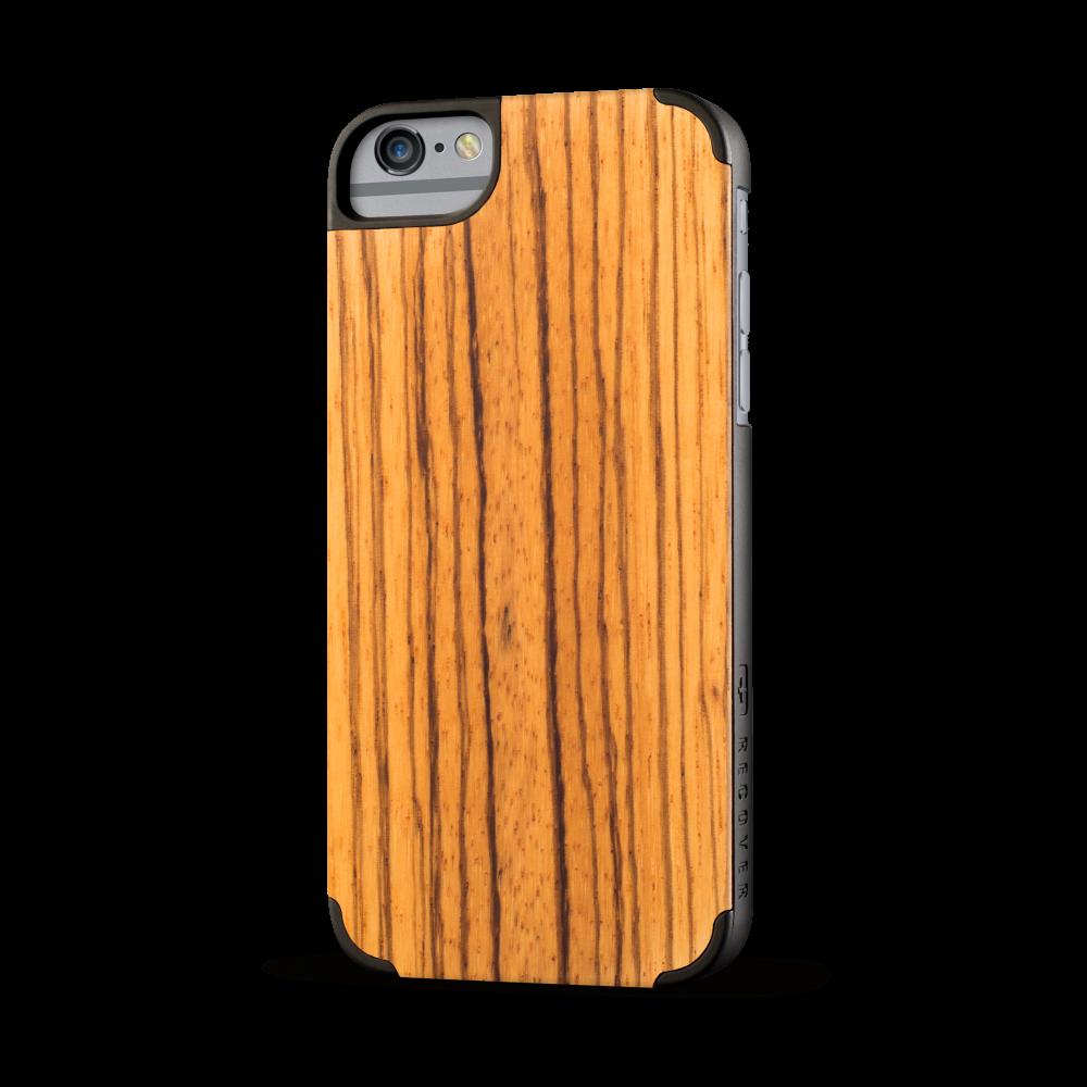 iphone case, wood iphone case, zebra wood, zebrawood iphone case, recover wood case