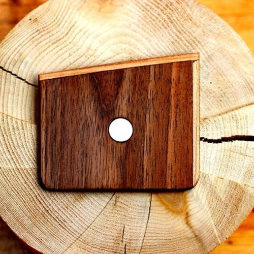 Wooden Pocket Square | Noce | Baffi | Walnut & Cherry Wood