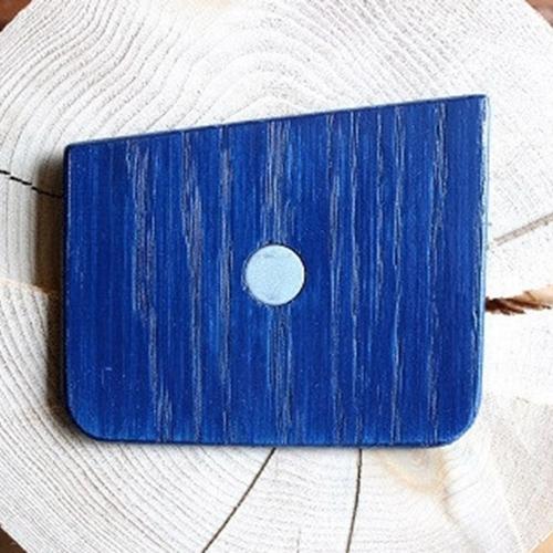 Wooden Pocket Square | Midnight Blue | Baffi | Ash Wood