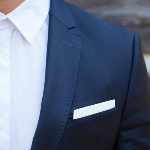 Wooden Pocket Square | Bianco | Baffi | Ash Wood