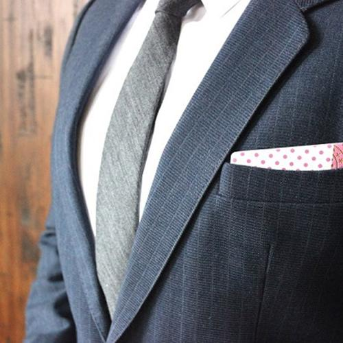 Wooden Pocket Square | Pink Dots | Baffi | Baltic Birch Wood