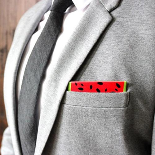 Wooden Pocket Square | Watermelon Wedge
