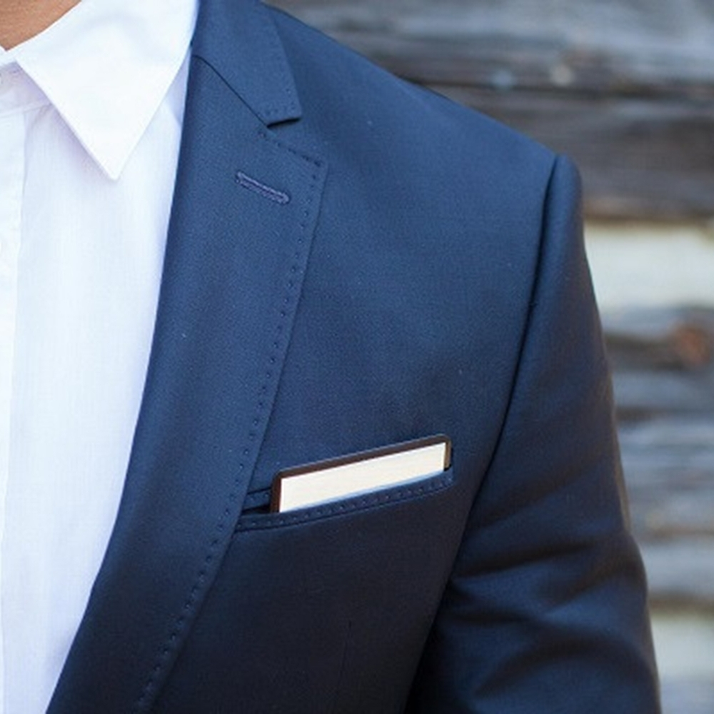 Wooden Pocket Square | Slver Member | Baffi | Baltic Birch