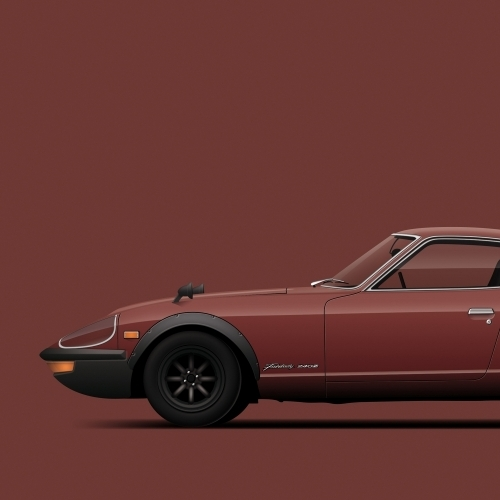 car prints, datsun z collection, luxury car art
