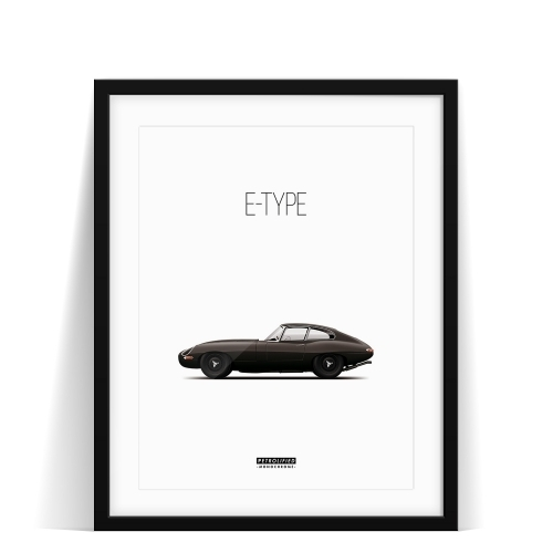 Jaguar E-Type Monochrome