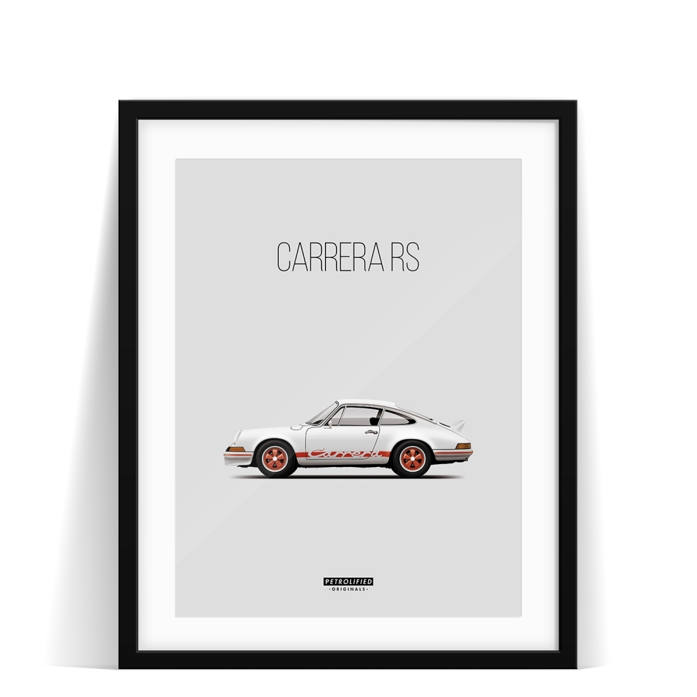 car prints, Porsche 911 Carrera RS, luxury car art