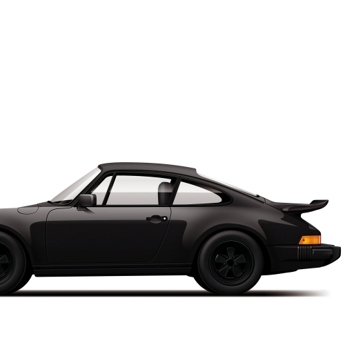 car prints, Porsche 930 Turbo - Monochrome, luxury car art