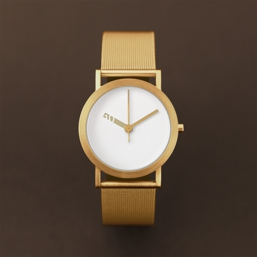 Gold Mesh Minimal Watch   Extra Normal Gold   Normal Watches