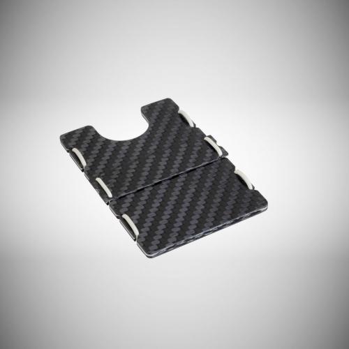 RIFD Carbon Fiber Wallet - White