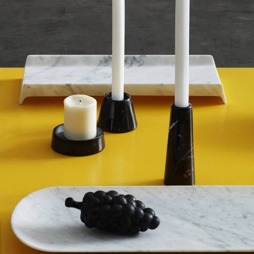 Tellus Candle Holders Marquina Black | Atipico