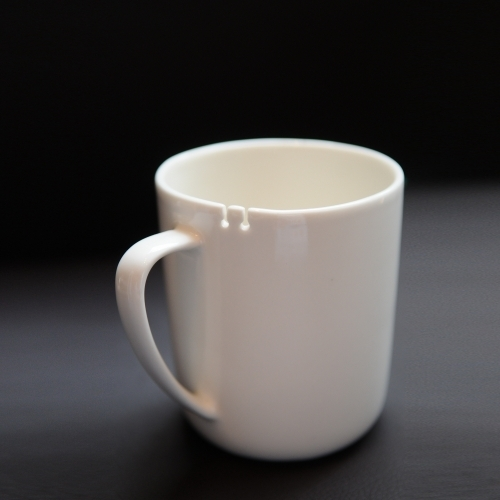 Tie Tea Mug, Left-handed