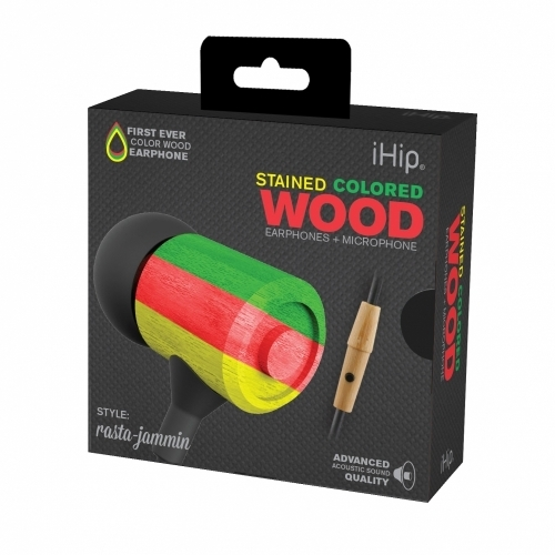 Rasta Jammin Wood Earphone