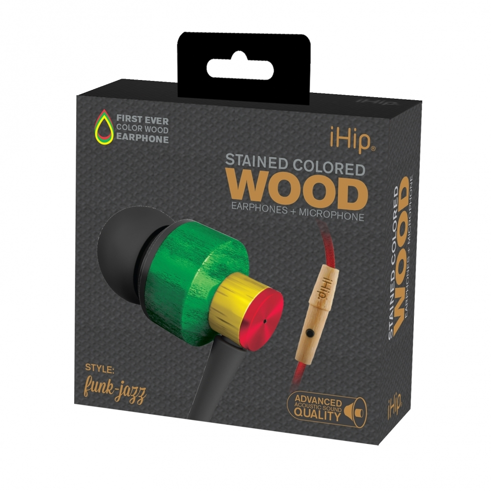 Funk Jazz Wood Earphone, iHip