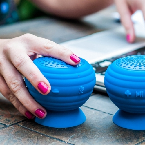StickUp Stereo Speakers, Blue, Simple Living Technology