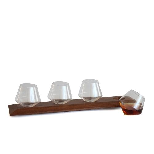 Wooden Glasses Tray | Cupa-Lift Flight | Sempli