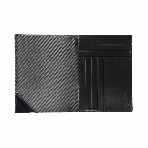 RFID Leather Carbon Passport Wallet