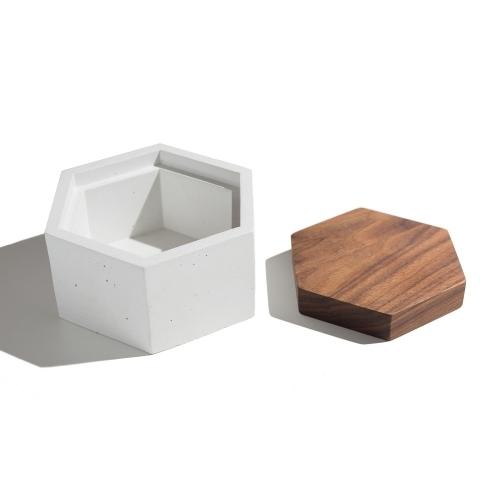 Hexagon Box, White