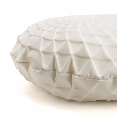 Noam Pillow Cover, White, Mikabarr