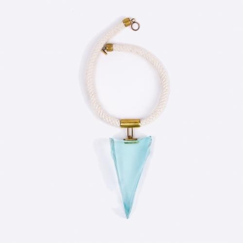 Blue Glass Necklace, Large