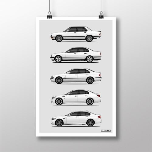 BMW M5 Generations Print