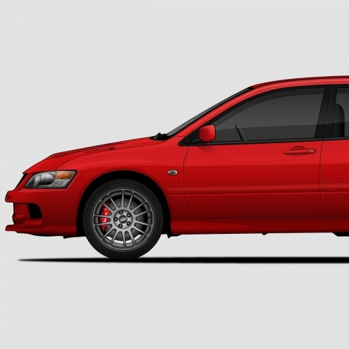 Mitsubishi Lancer Evolution Generations Print, Unrivaled