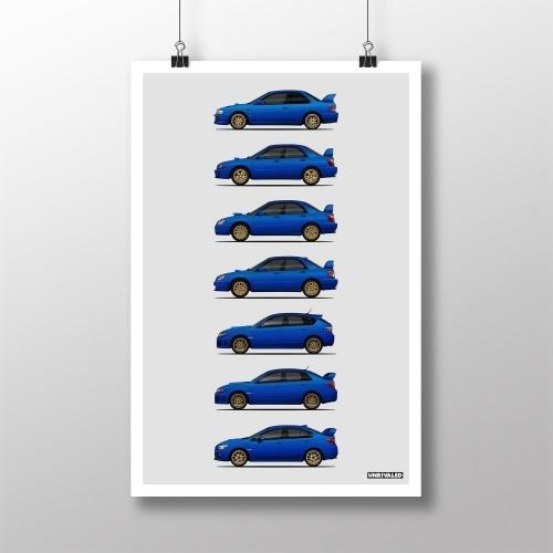 Subaru WRX STI Generations Print