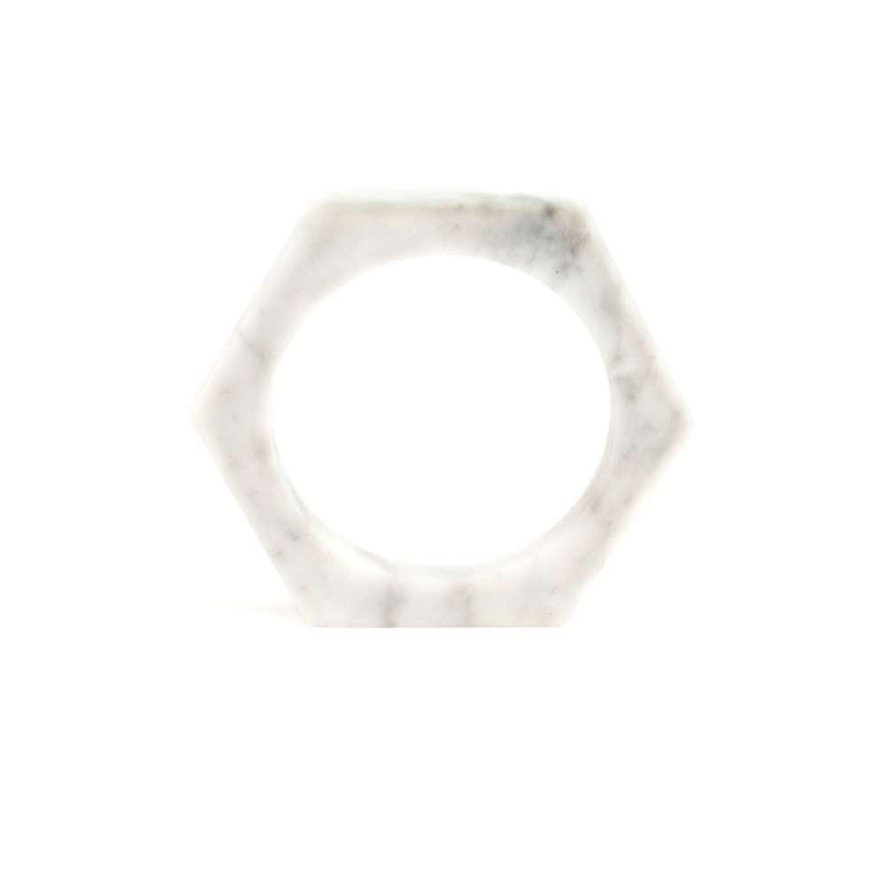 O Form-Bracelet No. 01 Marble White