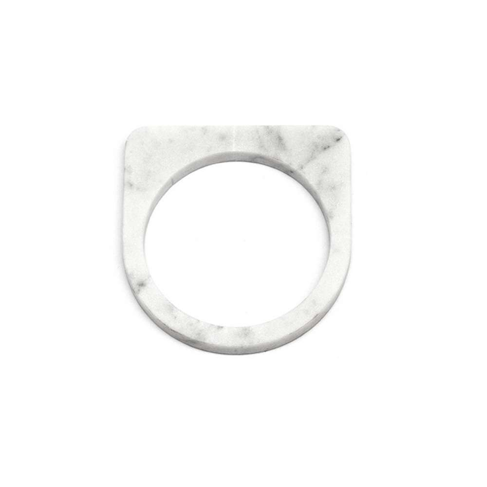 O Form-Bracelet No. 05 Marble White