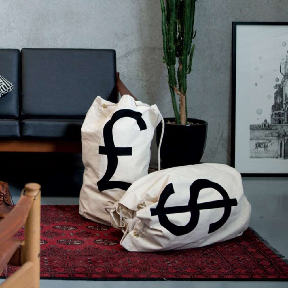 Money Bags: Dollar - Money Bag Pillow Decor