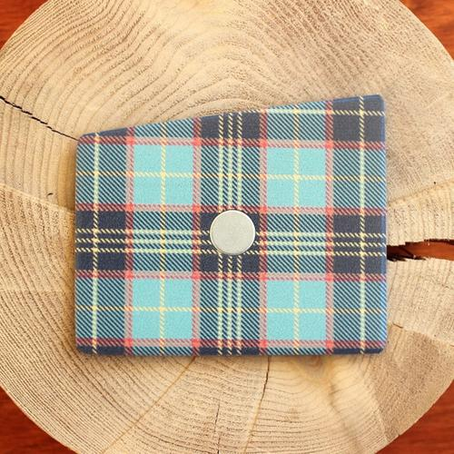 Wooden Pocket Square   Tartan