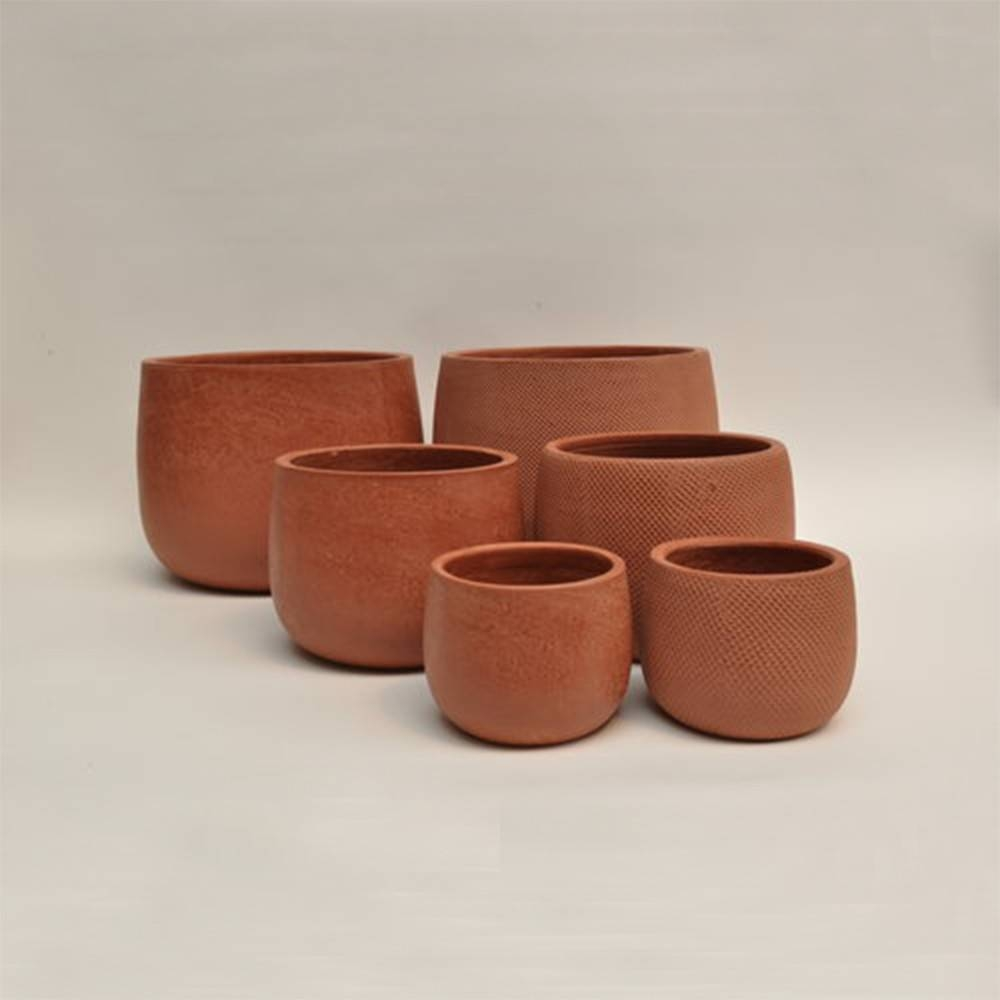 Micmac Pot Set of 3 - Vietnamese Red Clay Pot