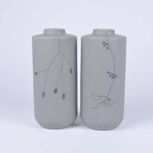 Flor Vase Set of 2, Grey
