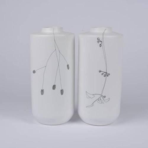 Flor Vase Set of 2, White