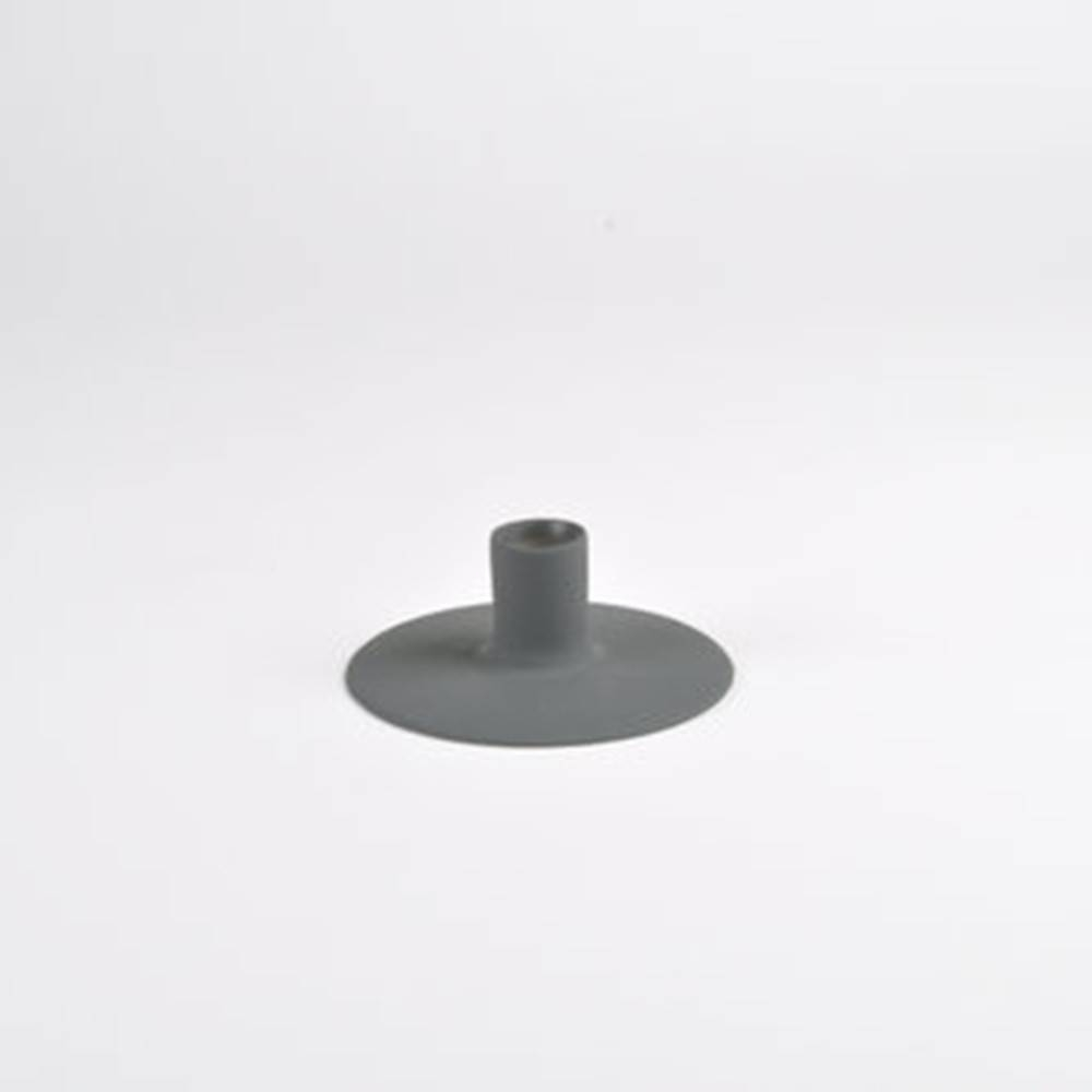 Zest Candle holder, Grey - Porcelain Candlesticks with Wubber Paint