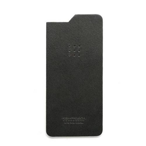 504 iPhone 6 Leather Skin, Charcoal - Leather iPhone Skin
