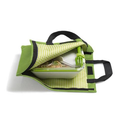 Lunch Box Bag - Insulated Bag that Doubles as a Desk Place Mat