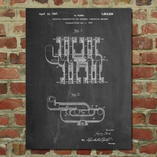 Engine Manifold Patent Print - Patent Prints