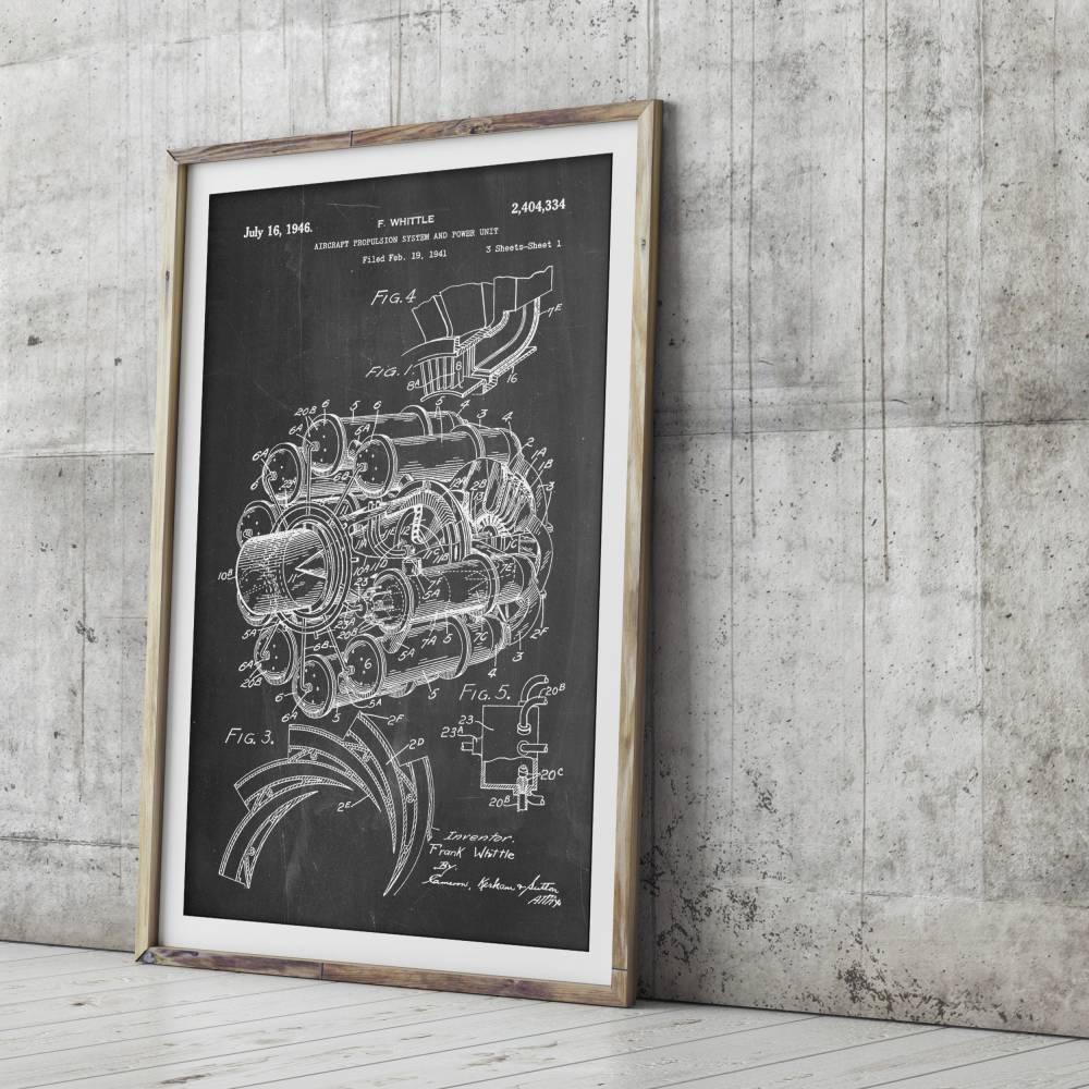 Jet Engine Patent Print - Patent Prints