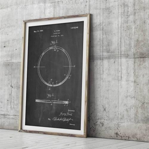 Piston Ring Patent Print - Patent Prints