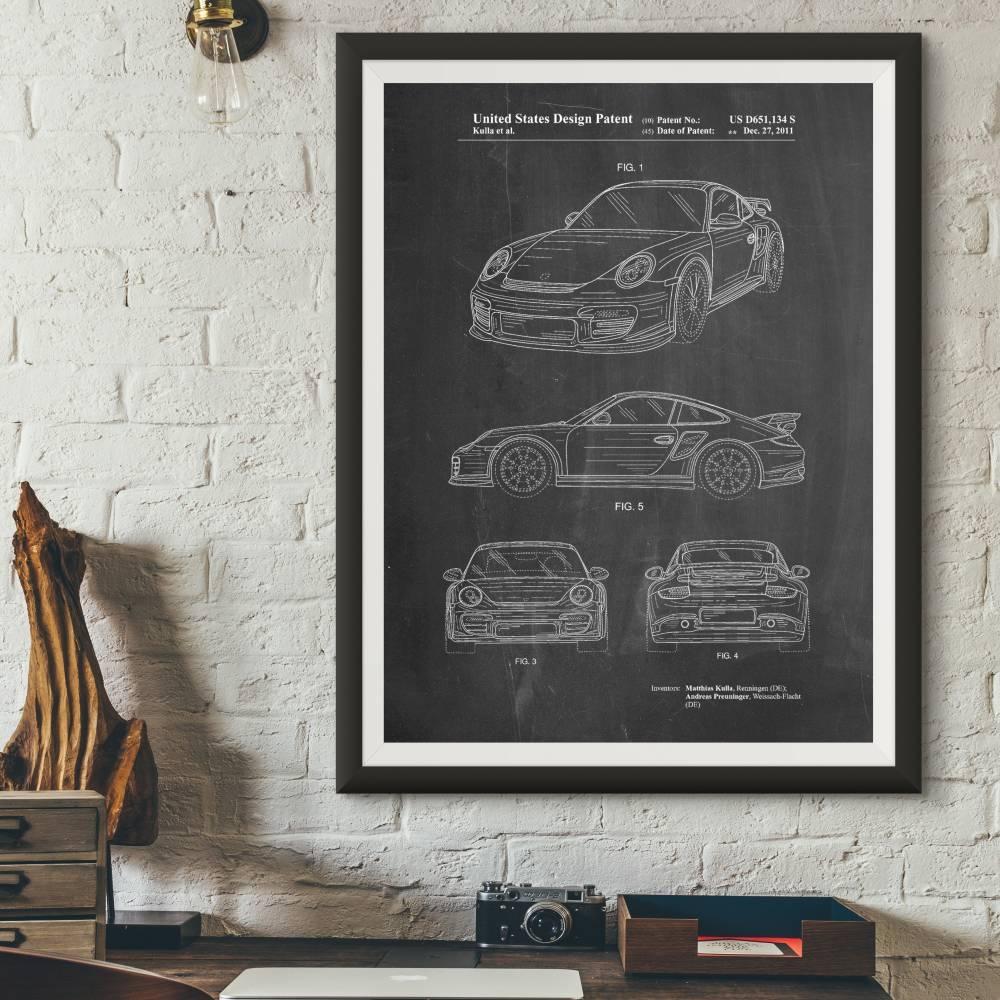Porsche 2011 Model Patent Print - Patent Prints