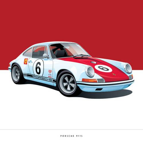 Porsche 911S Art Print