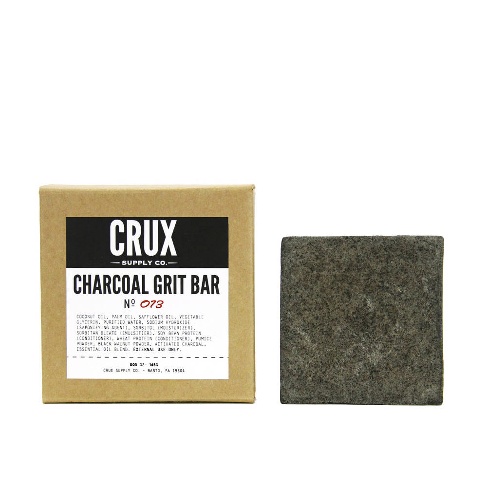 Charcoal Grit Bar | Crux Grooming