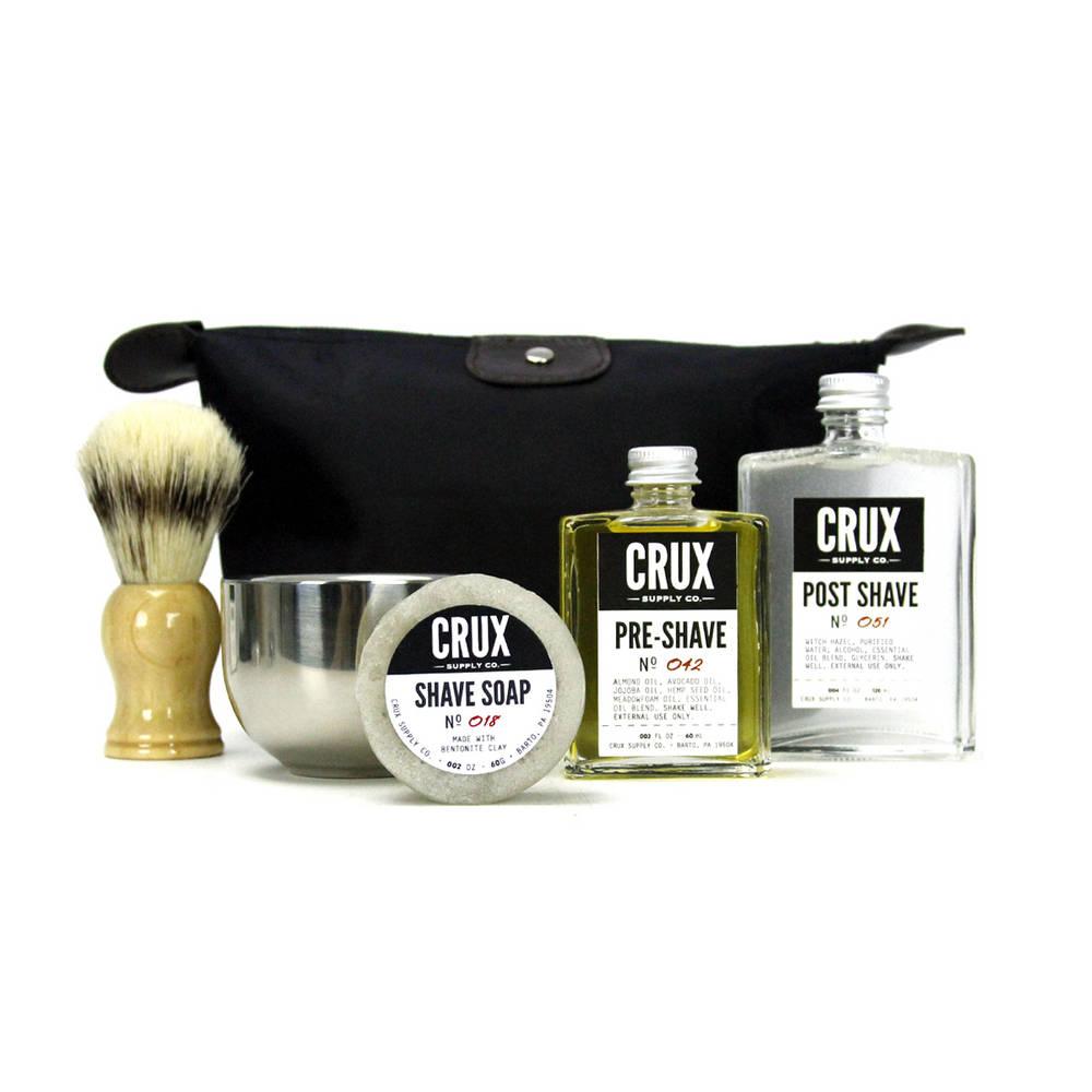 Deluxe Shaving Kit   Crux Grooming