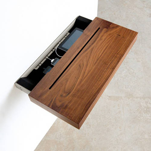 Stage Interactive Shelf Walnut - An Elegant Meeting Place for all your Re-chargeable Handheld Devices