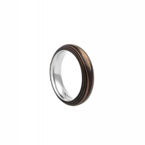Duo Slim Ebony + Mahogany Ring