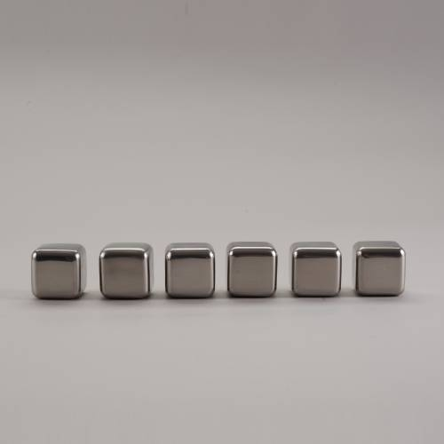 Whiskey Stones   Round Edged Stainless Steel Cubes   SipDark