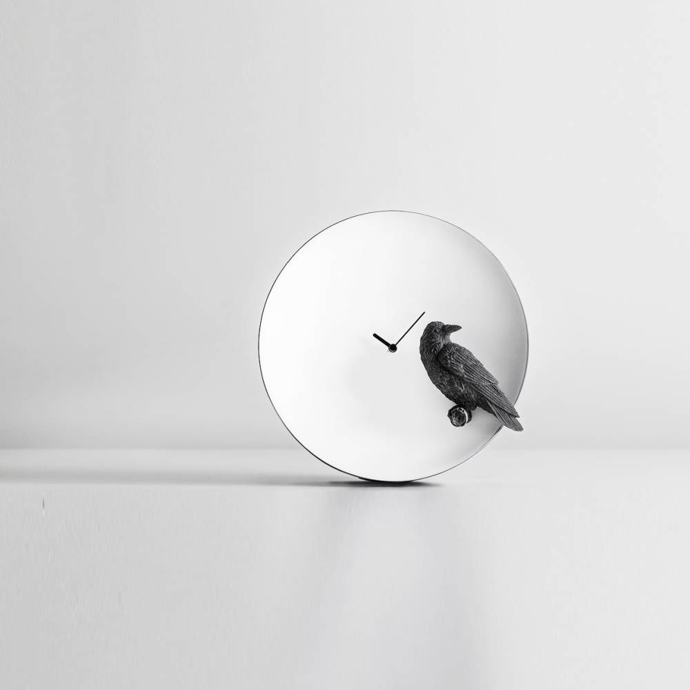 Moon X Raven Clock  - Haoshi Design