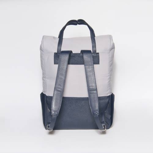 Blue Leather Backpack | Voyager | Transforms into a Tote Bag