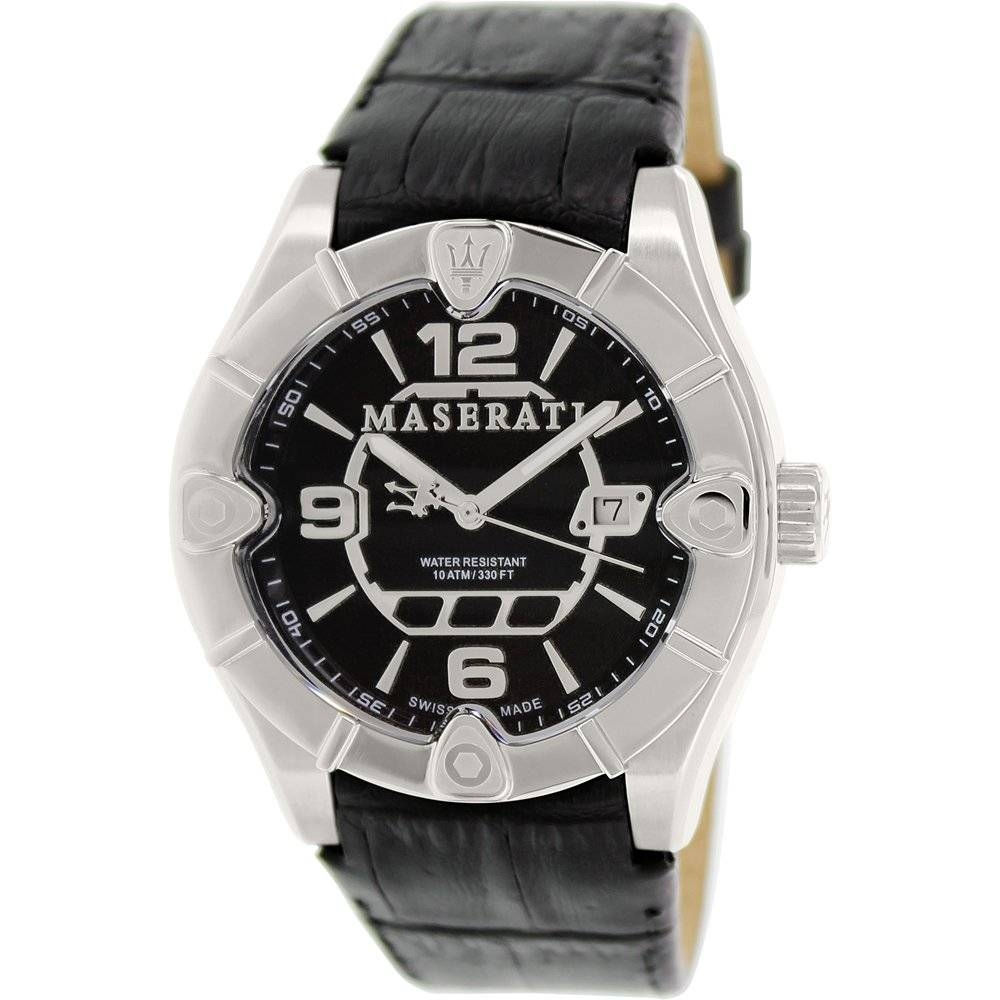 Meccanica Black Leather Swiss Watch​ - Area Trend