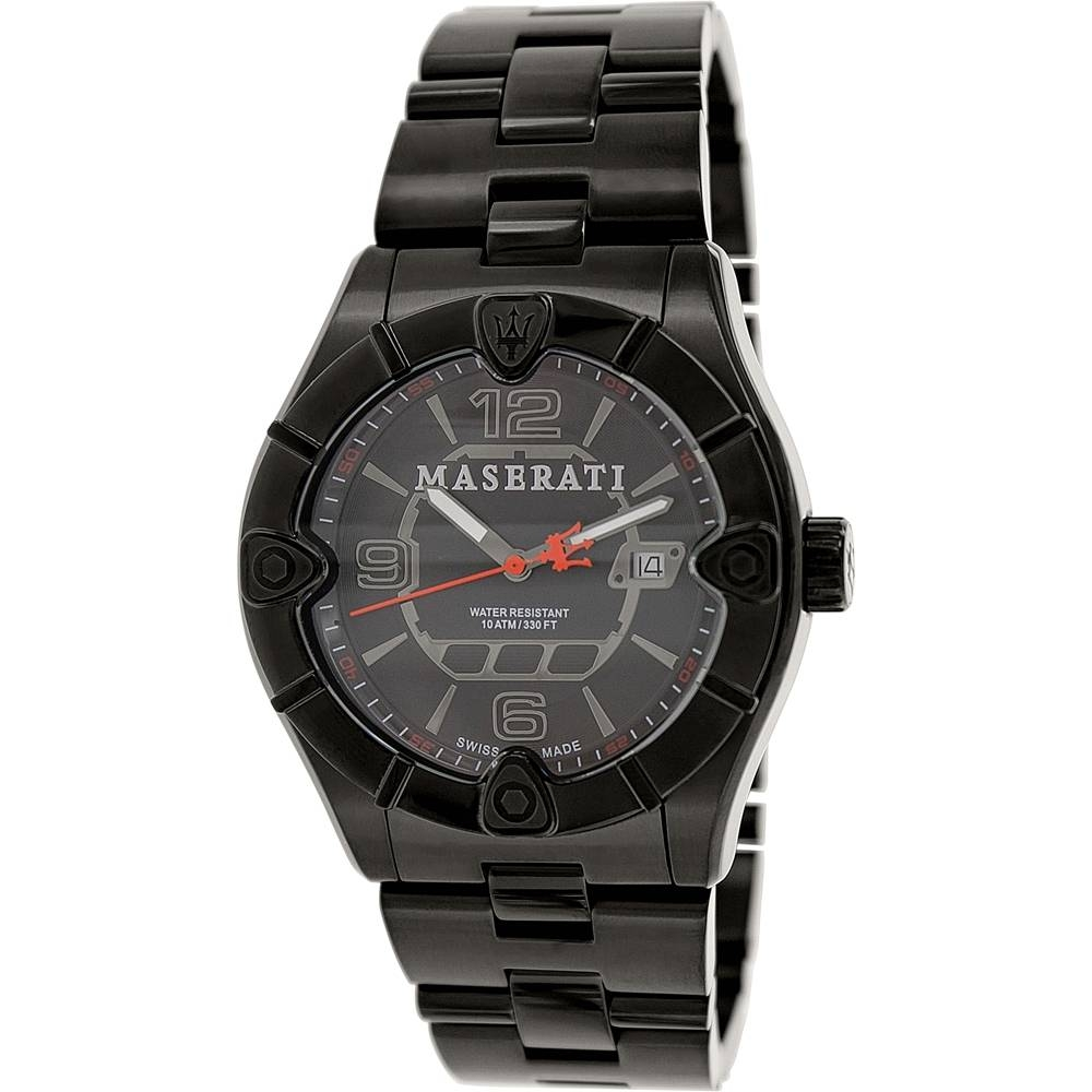 Meccanica Black Stainless Steel Swiss Watch - Area Trend